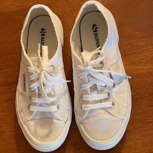 Superga White Canvas Tennis Shoes